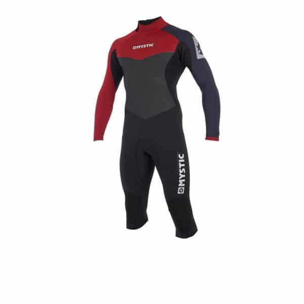 Mystic Drip Mens 4/3 back zip long arm short leg wetsuit 2019 1