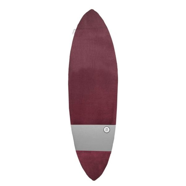 FONE Manera Surf Board Sock 5ft10 Wine/Slate 1